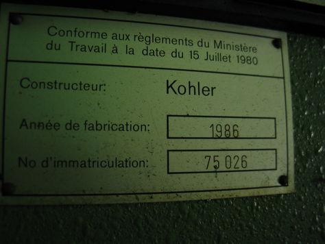 KOHLER 80600 / 21T