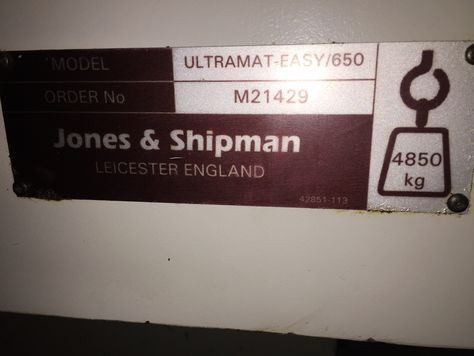 JONES & SHIPMAN ULTRAMAT EASY 650