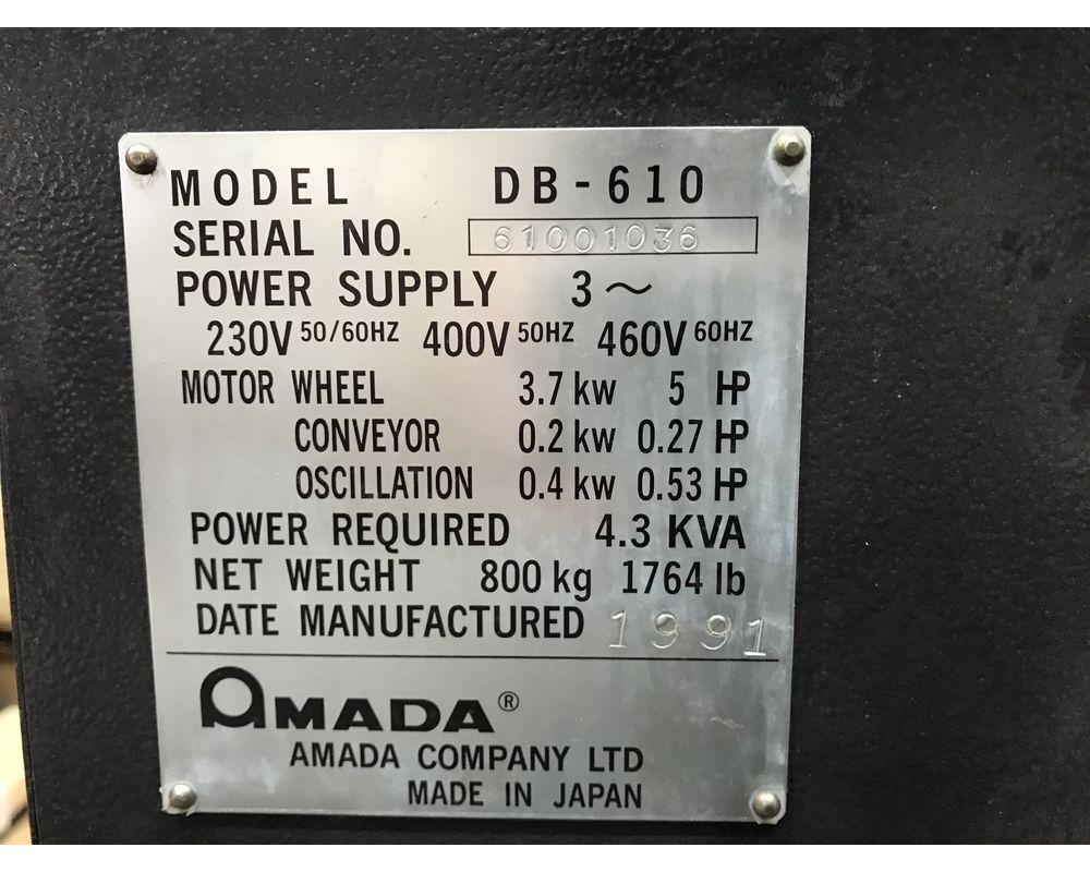 Sheet metal deburring machine AMADA DB 610 103230 | France