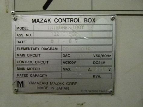 MAZAK Centre de tournage universelle à 5 axes INTEGREX 100 II Y